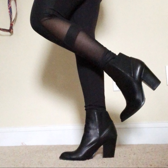 1195c7a1fe60 Aldo Shoes - Aldo Elidia Black Leather Chelsea Heeled Booties 8